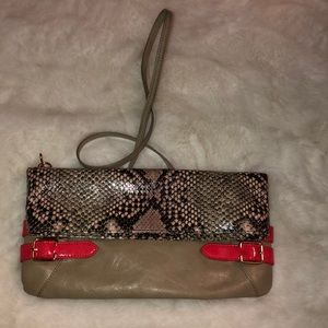 Gianni Binni snake print clutch crossbody